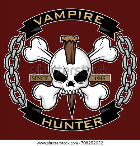 vampire hunter symbol vector