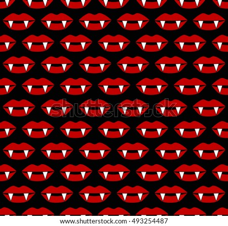 vampire lips scary halloween