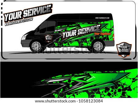 van graphic kit abstract