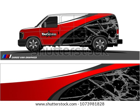 49825b023b Van graphics.abstract curved shape with modern camouflage design for vehicle  vinyl wrap and car