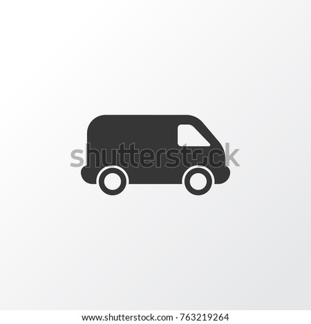 Van icon symbol. Premium quality isolated lorry element van icon in trendy style.