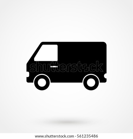 van Icon Vector isolated on background. Modern flat pictogram, business, marketing, internet concept. Trendy Simple vector symbol for web site design or button to mobile app. Logo illustration