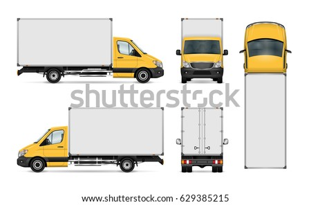 van vector template for car