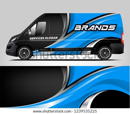 Van Wrap design for company, decal, wrap, and sticker. vector eps10