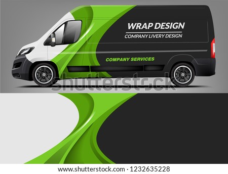 Van Wrap Livery deaign. Ready print wrap design for Van.