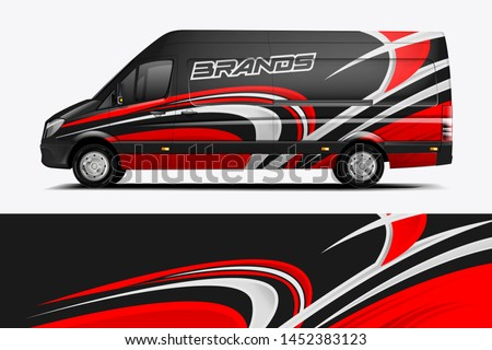 Van Wrap Livery design. Ready print wrap design for Van.