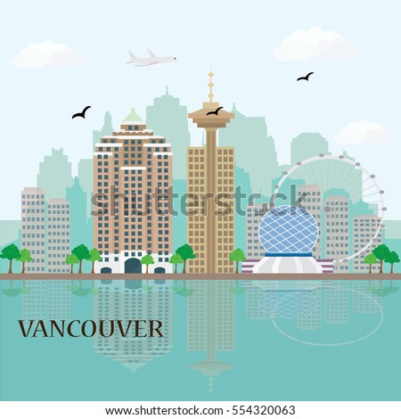 vancouver city skyline with