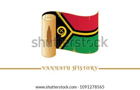 vanuatu flag and vanuatu history