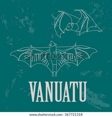 vanuatu flying bat retro