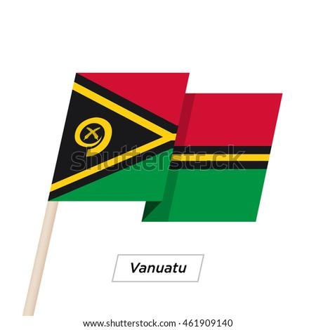 vanuatu ribbon waving flag