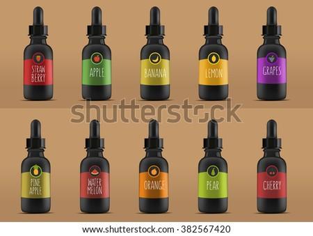 vape bottles with liquid