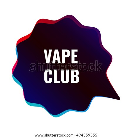 Vector Images, Illustrations and Cliparts: Vape club, vapor