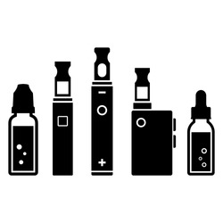 Vape devices vector icon on white background