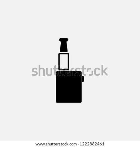 Vape icon. Electronic cigarette symbol. Flat design. Stock - Vector illustration
