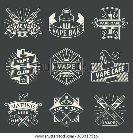vape logotypes set 2. thin line ...