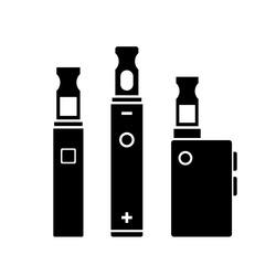 Vape smoking tools vector icon on white background