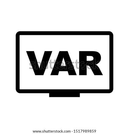 VAR icon symbol simple design Imagine de stoc ©