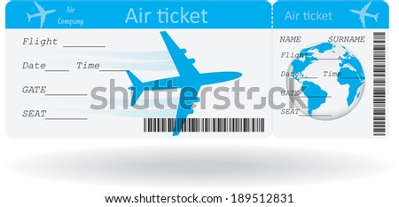 Airline Ticket Template Word Interesting Free Airline Ticket  Boarding Pass Vector  Download Free Vector .