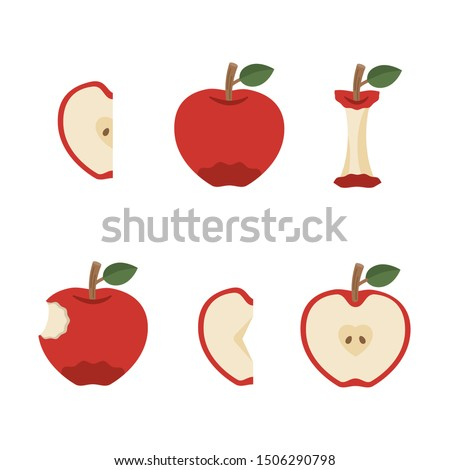 Variation of delicious red apple