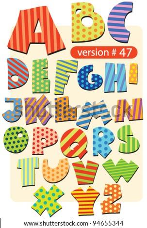 variegated circus alphabet