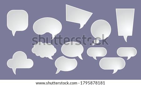 Varienty of speech chat bubbles concept