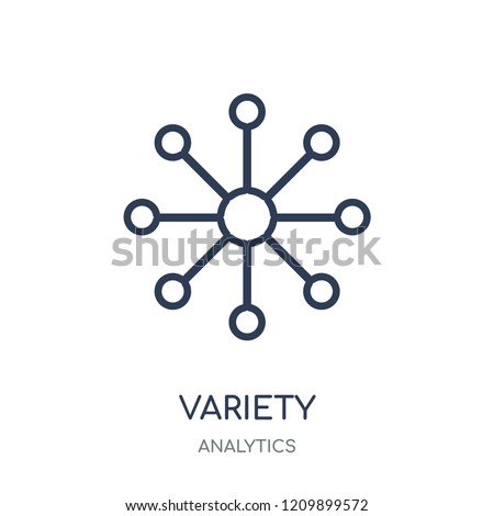 Variety icon. Variety linear symbol design from Analytics collection. Simple outline element vector illustration on white background.