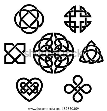 variety of celtic knots set of
