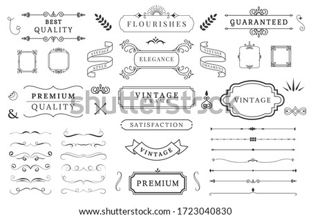 Variety of cute decoration elements