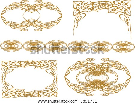 Free Vector Graphics Software  Windows on Vector Variety Of Golden Frames Borders And Edges Vector Graphics
