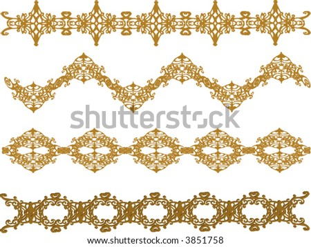 stock vector variety of golden frames borders and edges vector graphics