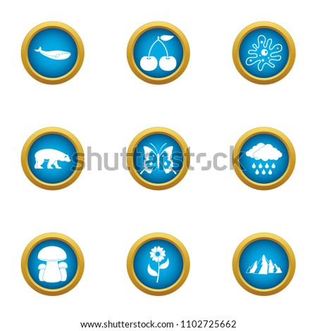 Variety of living icons set. Flat set of 9 variety of living vector icons for web isolated on white background