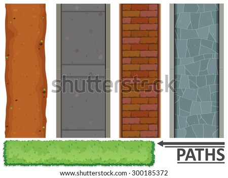 variety of paths and textures