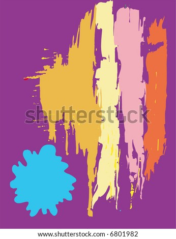 Various abstract splashes set. Vector format