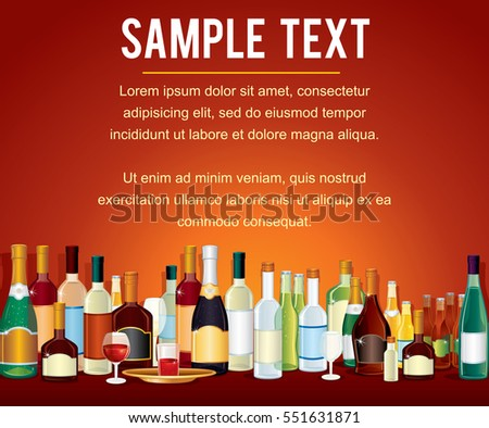 various alcohol bottles in a