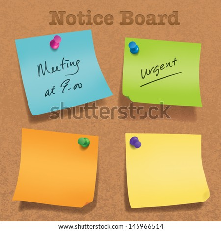 Various angle sticky note