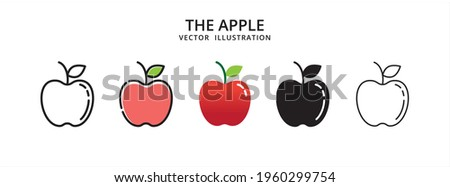 various apple fruit vector logo illustration design template set Foto stock ©