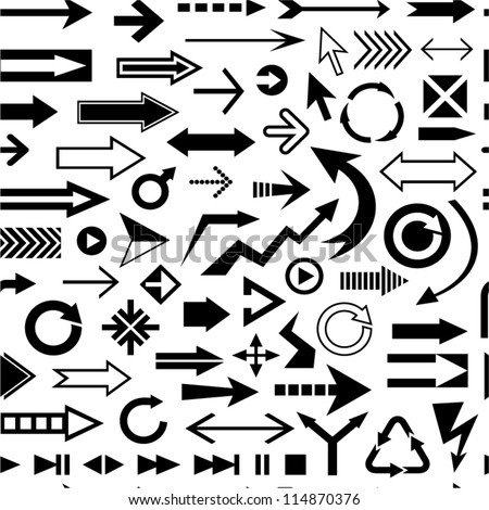 Various arrows seamless pattern