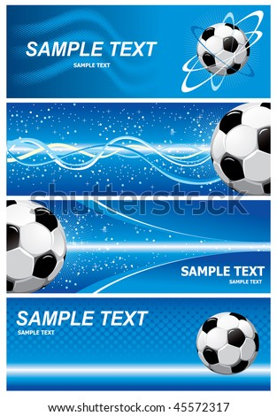 Various blue soccer background. Vector.