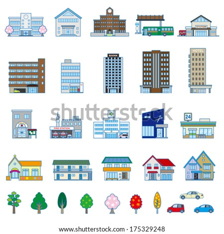 Various building