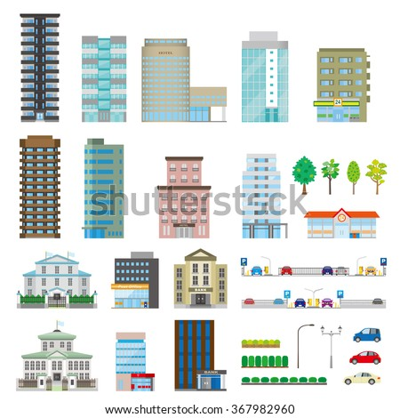 Various buildings