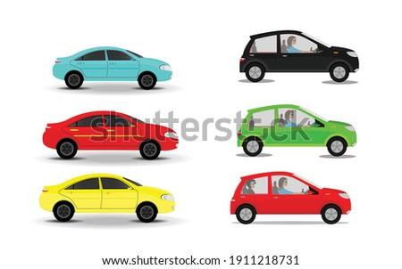 various cars vector various