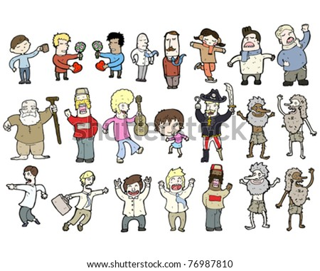 various cartoon people collection