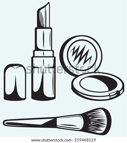 various cosmetics isolated on