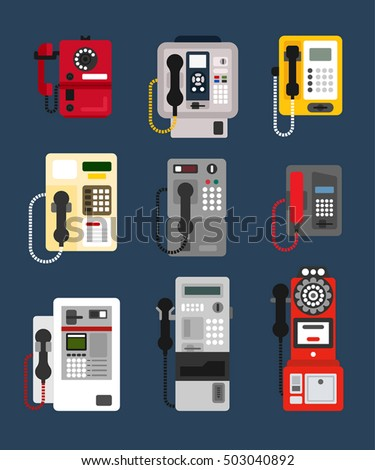 various designs of payphone