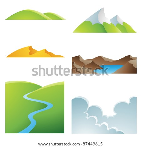 various earth landscapes and