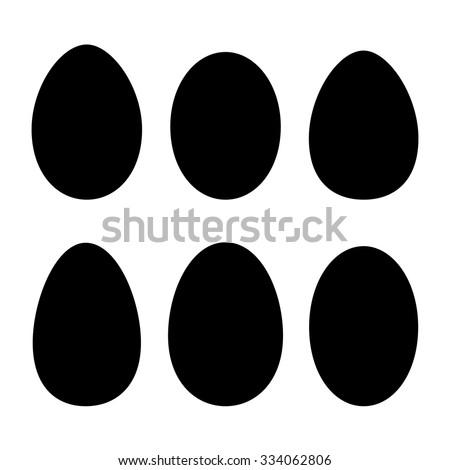 Various egg shapes. Vector.