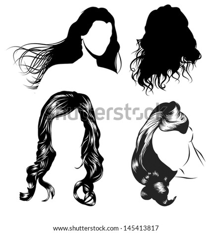 various female hair styles and heads of women