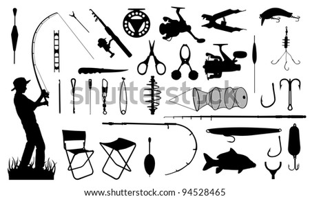 various fishing tools set