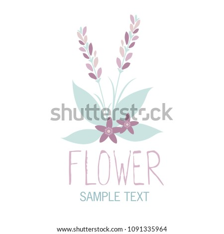Various flowers and leaves forming a bouquet on white background