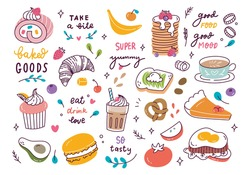 various food and drink background, restaurant backdrop